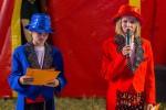 Schüler werden Zirkusartisten
